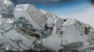 Crystals of gallium metal.
