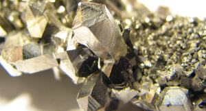 Crystals of niobium metal.